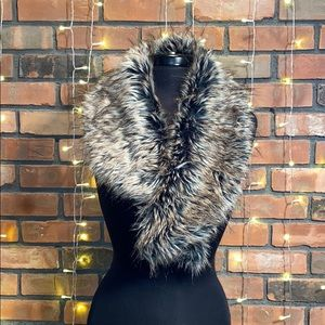 Faux Fur Scarf Pull Through Warm Trendy